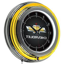 Chevy 14 Double Ring Neon Clock