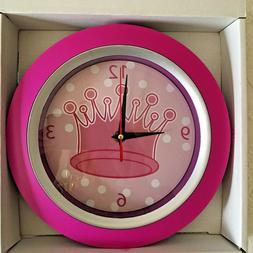 Child's Wall Clock Depicting A Princess Crown - Cute for Gir