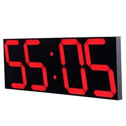 CHKOSDA Remote Control Jumbo Digital Led Wall Clock, Multifu