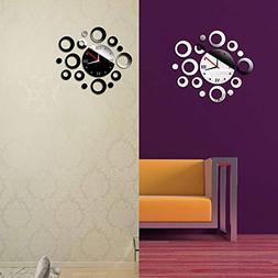 Fashion Design Circle DIY Mirror Wall Clock Wall Sticker Hom
