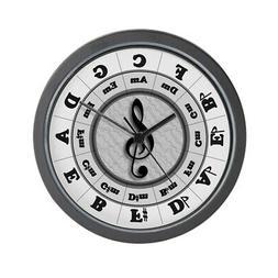 """CafePress Circle Of Fifths Unique Decorative 10"""" Wall Clock"""