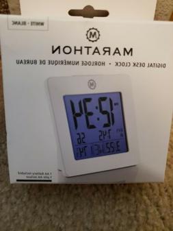 MARATHON CL030050BK Desk & Shelf Clocks Digital Alarm Clock,