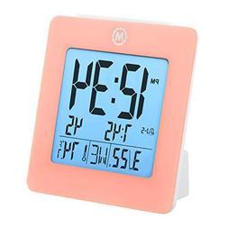 Digital Desk Shelf Clocks Desktop Clock with Day, Date, Temp