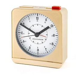 MARATHON CL030053BK Analog Desk Alarm Clock With Auto-Night