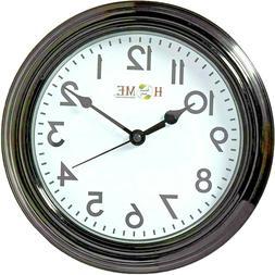 8.75 Inch Round Wall Clock, Silent Non Ticking,Quartz Batter