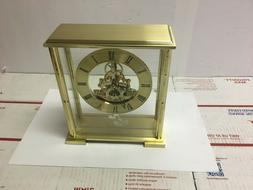 Howard Miller  Clock 845-622  Glass Case Polished Brass Disn