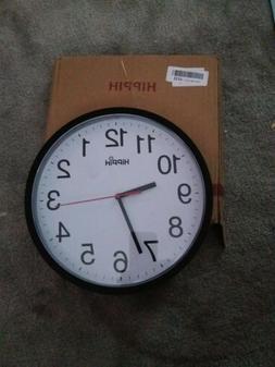 Hippih clock Black Wall Clock Silent Non Ticking Quality Qua