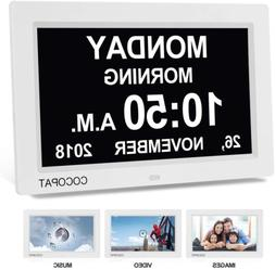 "Digital Clock Large Display For Seniors - Newest Version 9"""