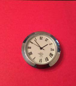 "Clock Insert 1-7/16 "" Silver Color 1 Pc Mini Clock Insert Qu"