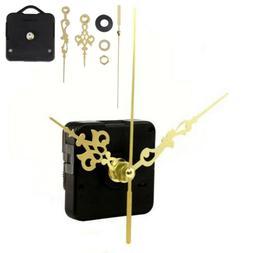 Clock Quartz Movement Mechanism Gold Color Spindle Hand Wall