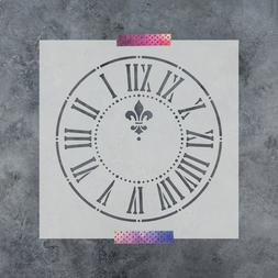Clock Stencil - Reusable Stencils of a Clock Available in Sm