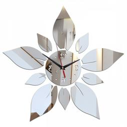 Clock Wall 3D Mirror DIY Sticker Acrylic Decor Home Modern S