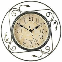 Geneva Clock Wrought Iron Wall Clock, 14-Inch