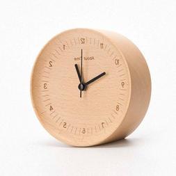 Clocks Desk & Table Clocks - Original Mute Logs Wooden Alarm