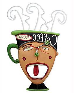 Allen Designs Coffee Please Swinging Pendulum Clock by 15x8.
