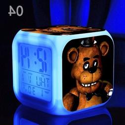 Colorful LED Clocks Cartoon Alarm Clock Toys Night Light for