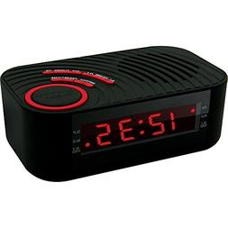 Coby Compact AM/FM Alarm Clock Radio with Large Easy to Read