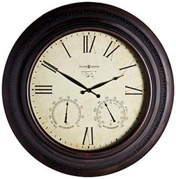 Copper Harbor Wall Clock in Brushed Antique Copper Tone Fini