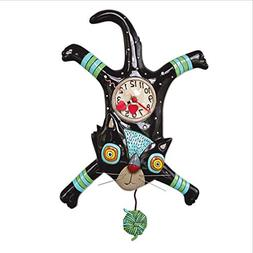 "Allen Designs ""Craft Attack Whimsical Cat Pendulum Wall Cloc"