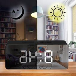 Creative LED Mirror Digital Alarm <font><b>Clock</b></font>