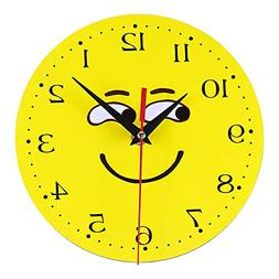 Creative Style Non-Ticking Silent Antique Wood Wall Clock fo