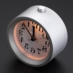 Simple Alarm Clock,ECVISION Creative Small Round Aluminium S