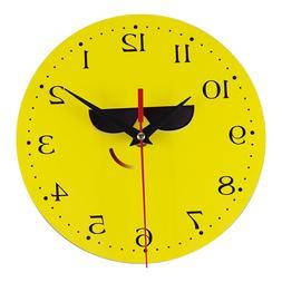 Creative Yellow Wall <font><b>Clock</b></font> Sticker Silen