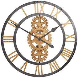 Crosby Large Metal Gear Wall Clock