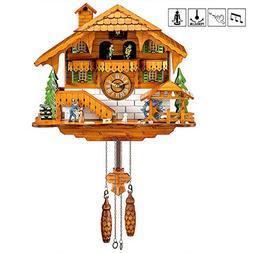 Kintrot Cuckoo Clock Black Forest Quartz Wall Clock Pendulum