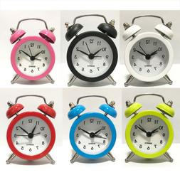 Cute Cartoon Dial Number Round Desk Alarm Clock For Kids Bed