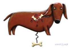 Cute OSCAR DACHSHUND Brown Sausage Dog Designer Wall Clock b