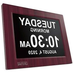 Day Clock - Extra Large Impaired Vision Digital Clock, Batte