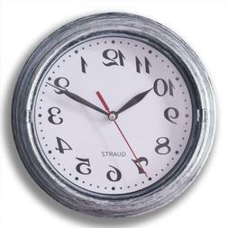 Decorative Silent Wall Clock Non-Ticking 8 Inches Round Quar