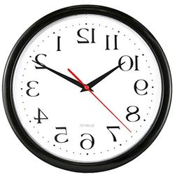 "UrbanWare Large Decorative 10"" Wall Clock - Quartz Sweep - E"