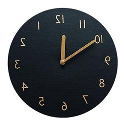 thehaki Decorative Wall Clock Silent & Non-Ticking Quartz Cl