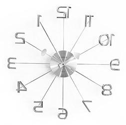 """A.Cerco 19"""" Large Decorative Wall Clock│Solid Aluminium Ca"""