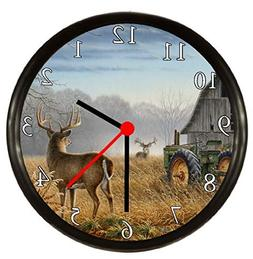 Quartz Deer Hunting Wall Clock