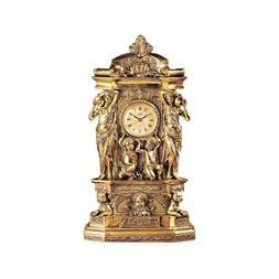 Design Clock Toscano Chateau Chambord in Antique Faux Gold f