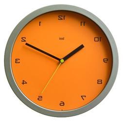 Designer Wall Clock in Tangerine