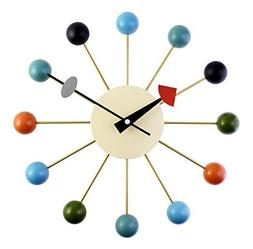 """A.Cerco Designer Wooden and Metal Analog Movement 12.9"""" Mode"""