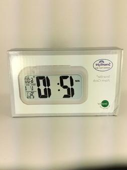 Desk Smart Digital Clock & Alarm Smartlight LCD AAA battery