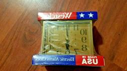Westclox Dialite Electric Alarm Clock 1960s 22194 Mid Centur