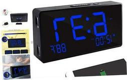 Digital Alarm Clock, Alarm Clocks for Bedrooms with USB Port