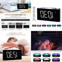 """Digital Alarm Clock For Bedrooms LARGE 6.5"""" LED Display W Di"""