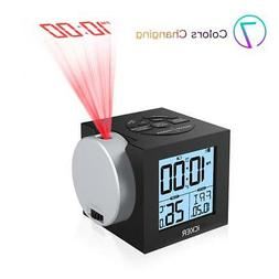iCKER Digital Alarm Clock for Bedrooms with USB Charging, Pr