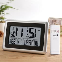 Digital Atomic Wall Desk Clock Big LCD Display Indoor Outdoo
