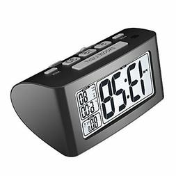 Xihaiying Digital Silent Small Travel Desk Clocks Battery Op