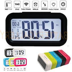 Digital Snooze LED Alarm Clock Backlight Time Calendar Therm