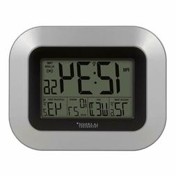 Digital Wall Clock With Temperature Indoor And Outdoor Atomi