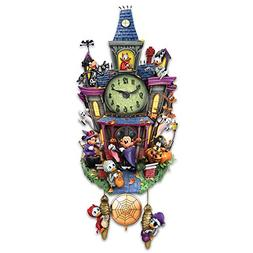 Disney Halloween Themed Cuckoo Clock with 9 Disney Character